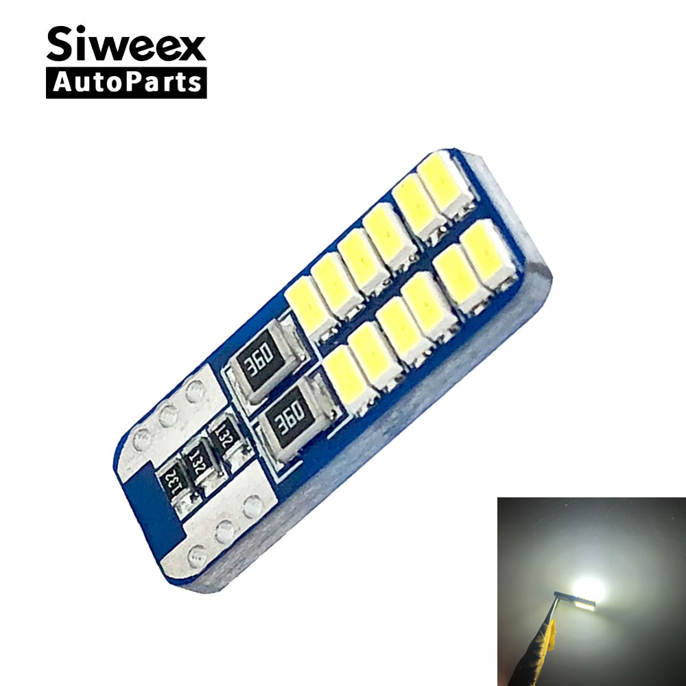 High Quality T10 W5W 168 192 Led Tail Light 3014 24smd 12V For Car Led Auto Lamp CANBUS NO Error Car Marker Parking Bulb White