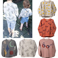 Crianças Meninos Meninas T camisa Dos Desenhos Animados Coelho Óculos Estrela Da Lua Full Print Tee roupa Dos Miúdos Da Criança Do Bebê Infantil de Manga Longa moletom