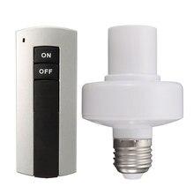 E27 soket kapağı RC kablosuz uzaktan kumanda işık lamba ampulü tutucu anahtarı ev