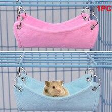 Nefes Hamster asılı yatak Chinchilla hamak kafes örgü yatak kuş gine domuz tavşan yatak Mat küçük hayvanlar aksesuarları kafesleri