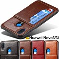 Huawei Nova 3 case Nova 4 case Nova 3i cover Luxury leather card holder Magnetic hard case for Huawei Nova 3e P20 Lite Pro case