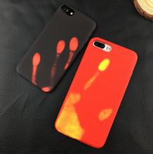 Fashion Physical Thermal Creative Hard Plastic Case Discoloration Funny Heat Sensitive Case For iphone 7 Plus 6 Plus 6s Cover