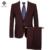 2016 Homens Jaqueta + Calça Ternos de Casamento Feito Sob Encomenda Vestido de Smoking Noivo dos homens Moda Casual Slim Fit de Manga Longa Blazers jaquetas Calças