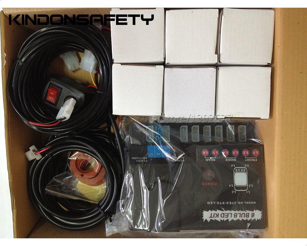 По DHL! Горячая 48 Вт светодиодный фонарь для дома, светодиодный предупреждающий стробоскоп, 8 шт 1 Вт Светодиодный s для каждой головы, мультивольт
