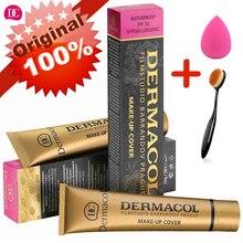 Dermacol איפור כיסוי אותנטי 100% מקורי 30g פריימר קונסילר בסיס מקצועי Dermacol קרן איפור קונטור צבעים