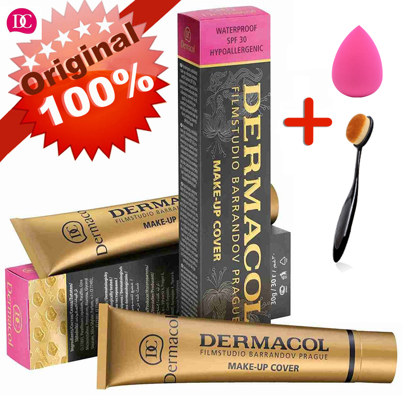 Dermacol Makeup Cover Authentic 100% Original 30g Primer Concealer Base Professional Dermacol Makeup Foundation Contour Palette image