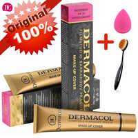 Dermacol maquillaje cubierta auténtica 100% Original 30g Primer corrector Base profesional Dermacol maquillaje paleta de contorno de Base