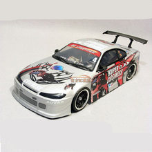 купить Hot Sale 2set/bag Silvia S15 PVC Painted Body Shell With Wind Tail Lampshade For 1/10 RC Hobby Racing Drift Car Free Shipping дешево