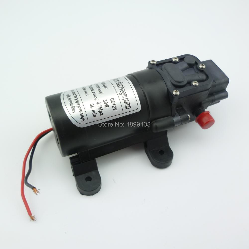 цена на return valve type self priming portable 30W 3L/min 12v dc motor diaphragm high pressure micro electric water pump