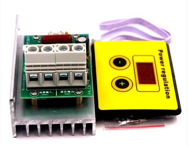 AC 220V 10000W SCR מתח רגולטור בקרת אור עמעום דימרים טרמוסטט מנוע מהירות בקר