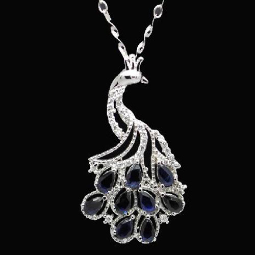 Collier Collares Qi Xuan_Dark Blue Stone Peacock Pendant Necklace_Real Necklace_Quality Guaranteed_Manufacturer Directly Sale Collier Collares Qi Xuan_Dark Blue Stone Peacock Pendant Necklace_Real Necklace_Quality Guaranteed_Manufacturer Directly Sale