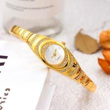 цена на Vogue Womens Wrist Watches Golden Bracelet Watch For Women Hot Fashion Ladies Quartz Watch Female Minimalist zegarek damski Gift