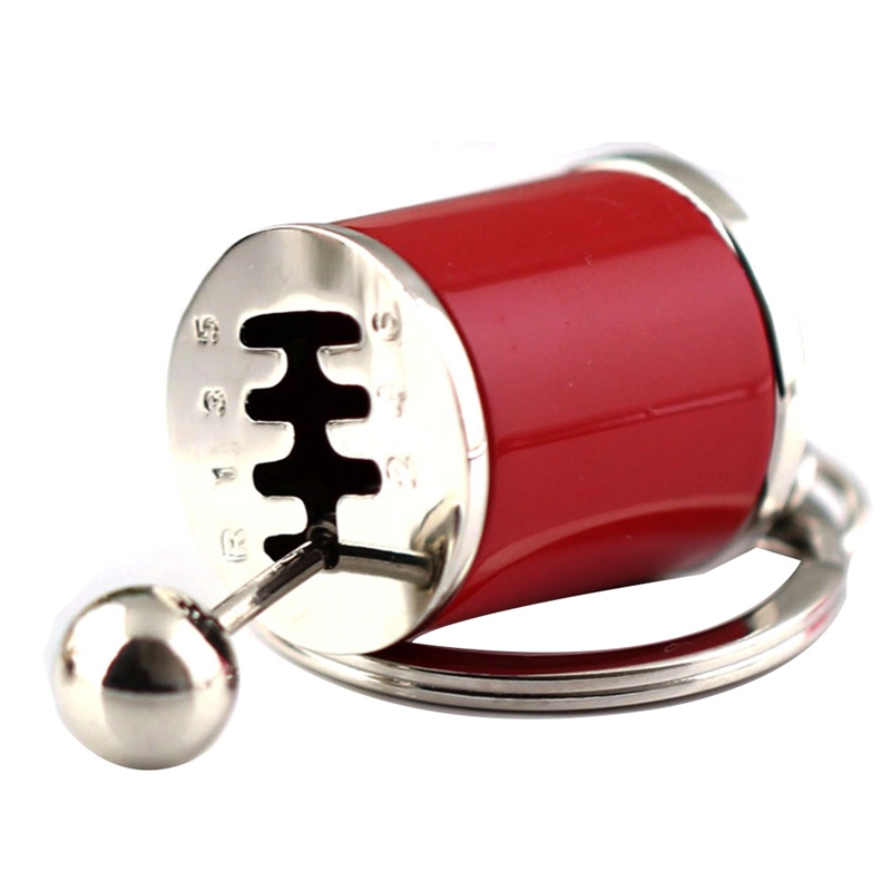 Metal AntiStress Toy Creative Car 6 Speed  Gear Fidget Keyring Shift Racing Tuning Model Keychain Novelty Car