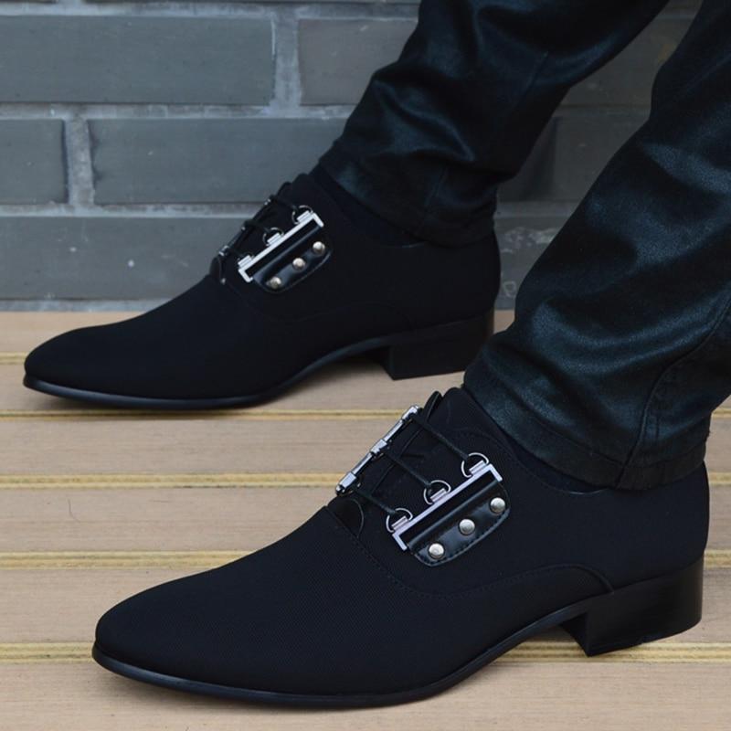 2018 Men Flats Fashion New Style Cloth Shoes Men,Lace Up Business Men Shoes,Men Dress Shoes, Oxfords shoes-in Oxfords from Shoes    1