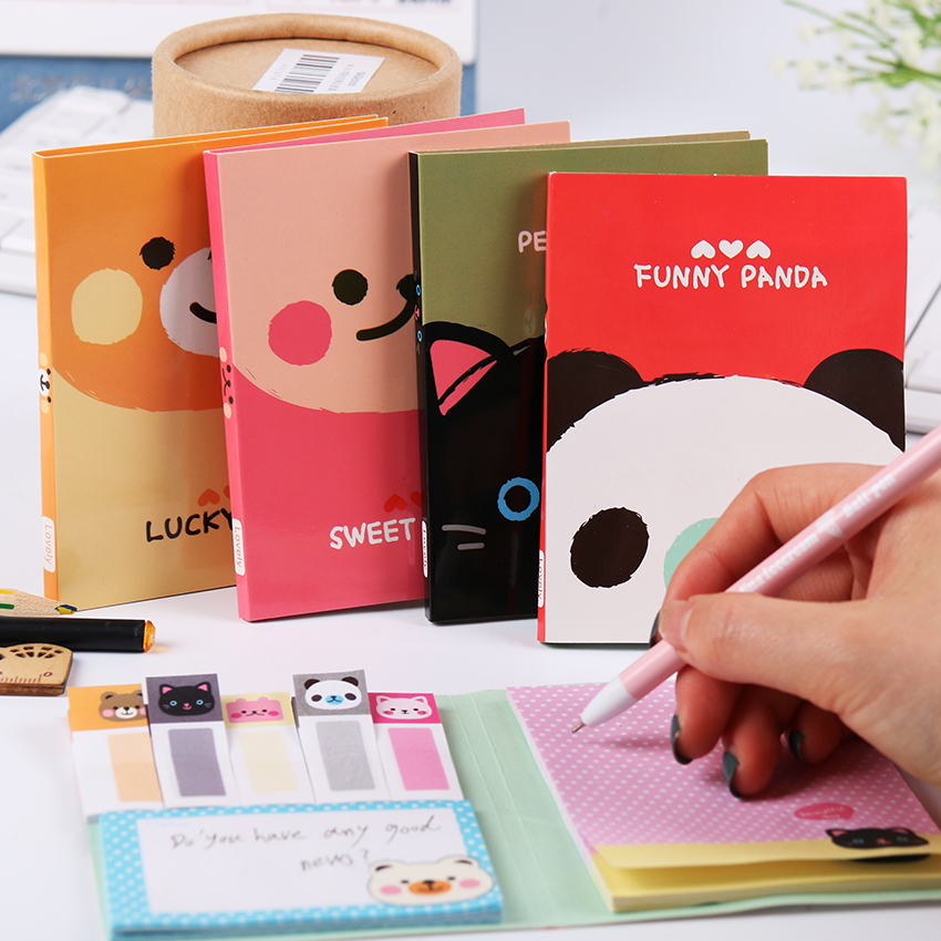 1 PC Small <font><b>Cute</b></font> Animal Sticker Multiuse Memo Pad Bookmark Memo Flags Index Pad <font><b>Tab</b></font> <font><b>Sticky</b></font> Notes Stationery for School Students image