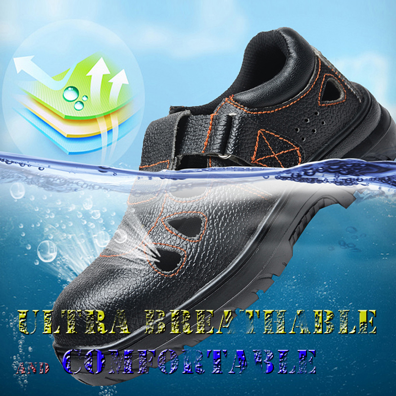 Safety Slipper Steel Toe Cap Safety Working Shoes Leather Band Sandals Hot Top Slides Summer Black Slippers Safety ShoeSafety Slipper Steel Toe Cap Safety Working Shoes Leather Band Sandals Hot Top Slides Summer Black Slippers Safety Shoe