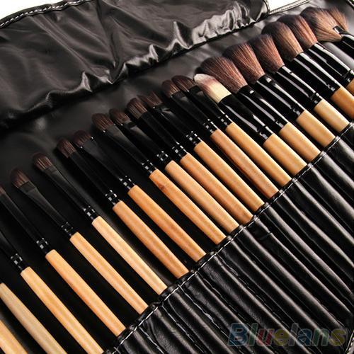 32 Pcs Macios Pincéis de Maquiagem Profissional Cosméticos Make Up Brush Tool Kit Conjunto Com o Saco de Alta Qualidade Presente de Natal