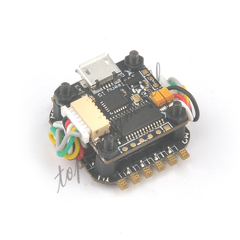Teeny1S F4 Flight Controller Board with Built-in Betaflight OSD + 1S 4 In1 BlheliS ESC for DIY Mini RC Racing Drone FPV