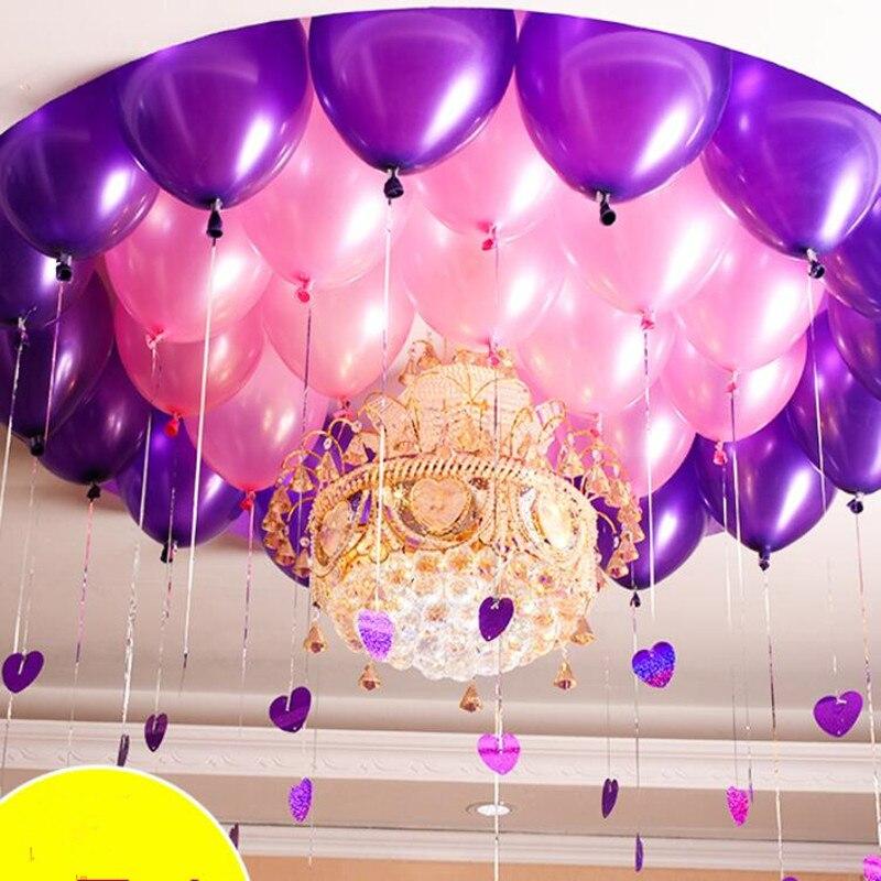 50 pcs/lot 12 pouce 2.8g Latex ballon D'hélium ballons Ronds Épais Perle pourpre rose ballons De Fête D'anniversaire De Mariage Bébé