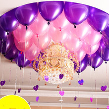 50 pcs/lot 12 inch 2.8g Latex balloon Helium Round balloons Thick Pearl purple pink  Wedding Party Birthday Baby