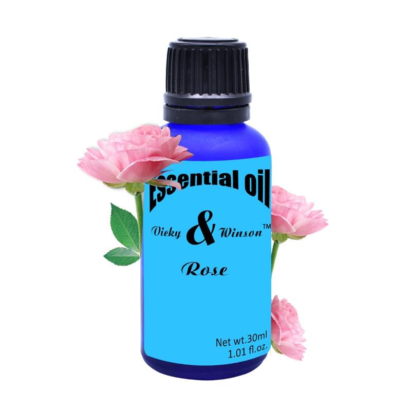 Vicky & winson Rosa aromaterapia oli essenziali fragrante coperta odore Aromatico per purificare l'aria 30 ml VWXX10