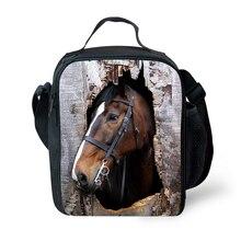 Высокая Для мужчин обед Сумка Прохладный 3 D животное лошадь Хаски печати обед мешок для участников изолированные взрослых Коробки для обедов lancheira Termica
