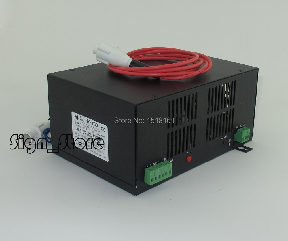 Pro 60W 50W Water Cooled Tube Power Supply for DIY CO2 Laser Engraving Cutting Machine low price water cooled laser head co2 laser tube 100w for low cost plastic laser cutting machine