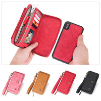 360 Luxury Retro Flip Wallet Magnetic Leather Case for iphone X XR XS MAX 6 6S 7 8 Plus Sleeve Protective Card Stand Coque Bag