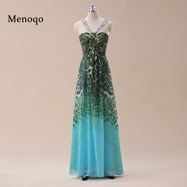 Real Image Ombre Leopard Prom dresses Party Bridesmaid dresses with ...