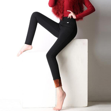 {Guoran}2017 casual office work pants for women stretch ladies High Waist pencil pants cotton black White red trousers Plus Size
