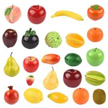 Plastic Lifelike Simulation Artificial Fruits Orange Apple Banana Mangosteen Kitchen Photography Props Home Decoration