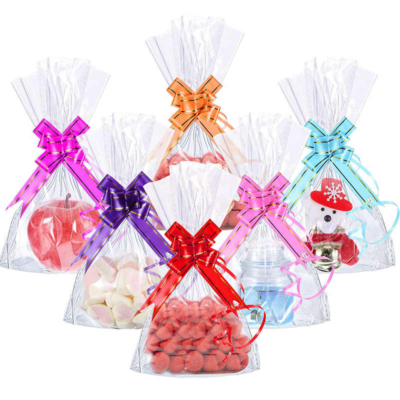 10 unidades/pacote DIY Arco Decoração Ornamento Do Presente Do Feriado Do Natal de Casamento Mão-puxado Material de Flores Decoração Festiva