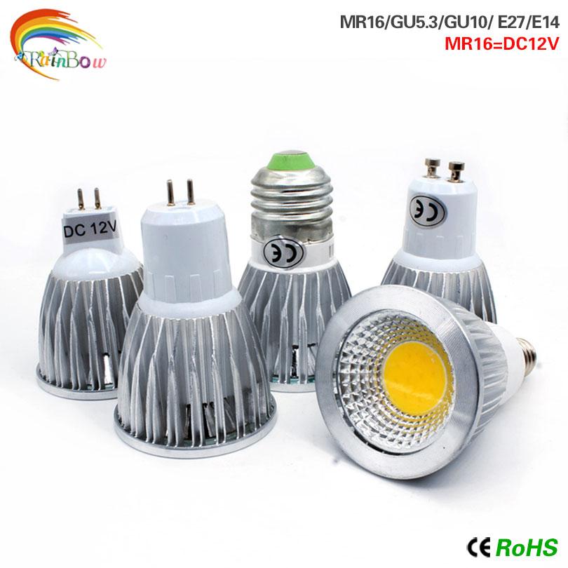 LED COB Bombillas E14 Led Bulb E27 Lampada Light GU10 GU5.3 AC220V 9w 12w 15w MR16 12v Led Lamp For Home Decoration Ampoule