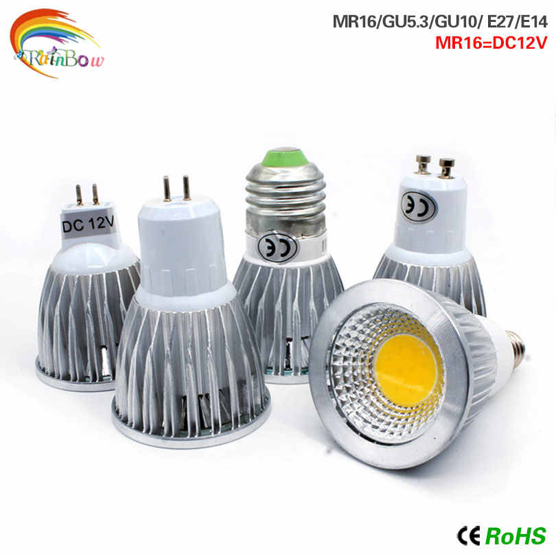 LED COB bombillas e14 led bulb E27 lampada light GU10 GU5.3 AC220V 9w 12w 15w MR16 12v led lamp For Home Decoration Ampoule