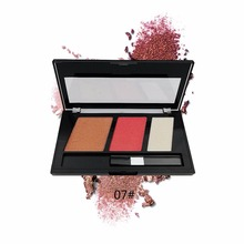 3 In 1 Multi-Functional Blush Contour And Highlighter Powder Palette Cosmetic Makeup Face Sculptor Kit