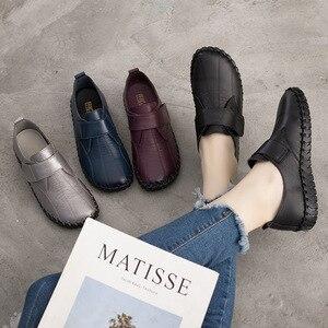Image 3 - GKTINOO printemps dames en cuir véritable à la main chaussures femmes crochet & boucle chaussures plates femmes 2020 automne doux mocassins chaussures plates