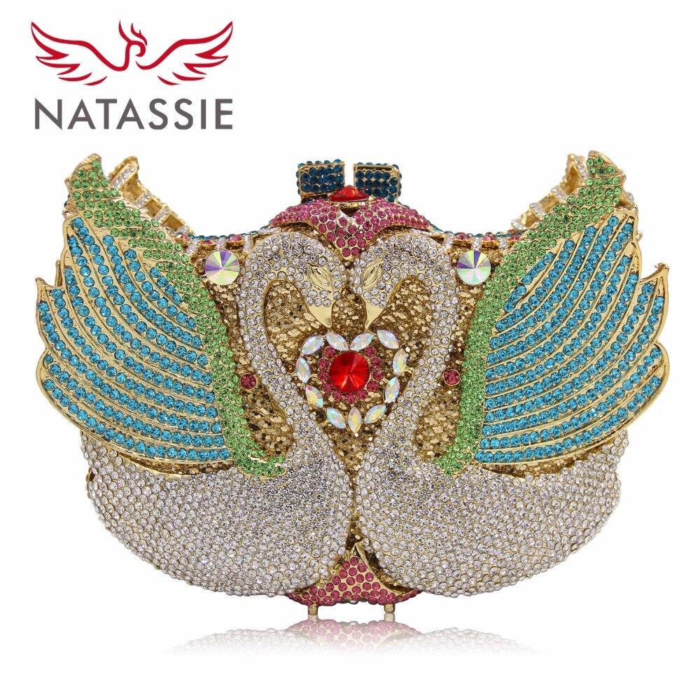 NATASSIE Women Wedding Bags Ladies Evening Clutch Bridal Bag Female Designer Party Purses