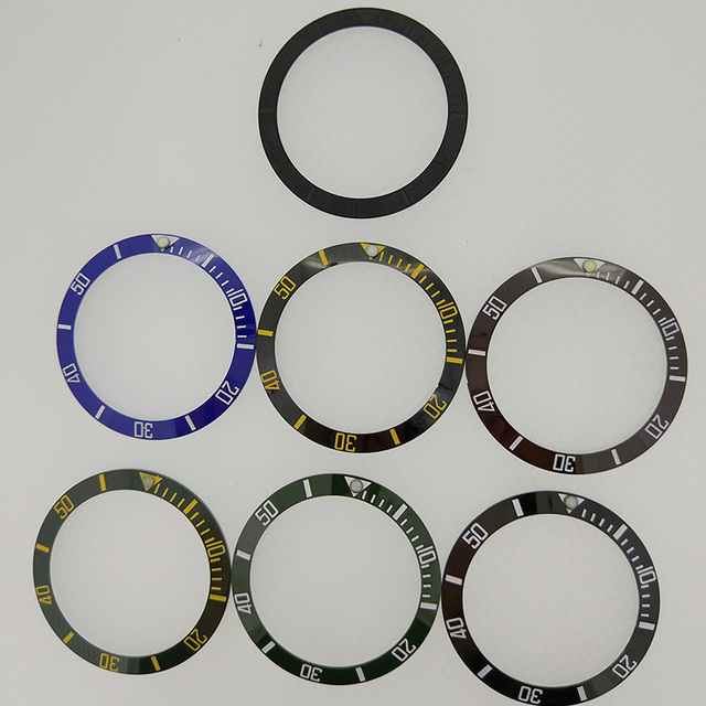 38mm Ceramic Bezel Insert for 40mm Mens Watch Model PA2105 Parnis Original Ceramic Bezel Insert for 40mm Automatic Watch