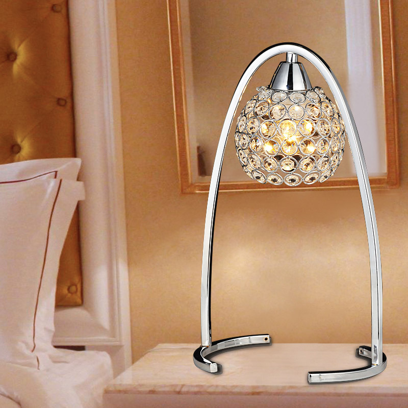 Modern Silver/Golden Crystal Hanging Bedroom Desk Lamps Living Room Luxury Study Room Bedsides table Light Wall Sconces Fixtures