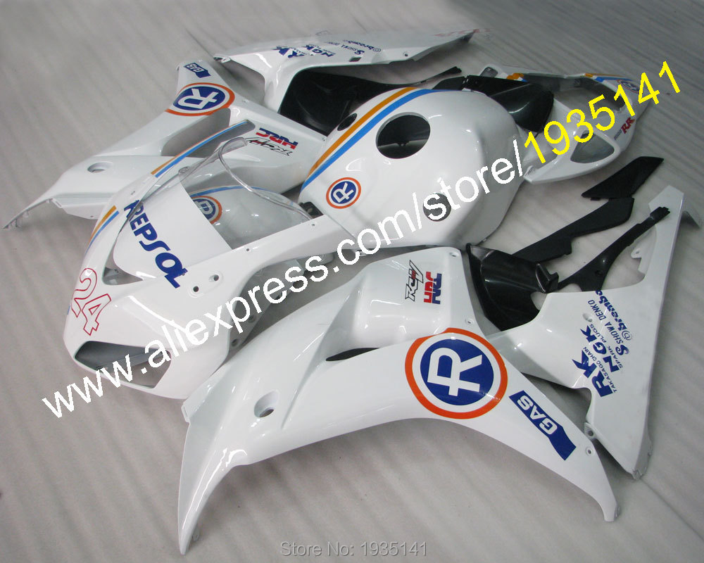 Hot Sales,Repsol motorbike kit For Honda 2006 2007 CBR1000RR 06 07 1000 RR CBR blue orange line body fairing (Injection molding)
