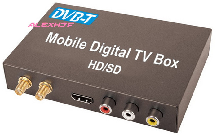 buy the newest dvb t car digital tv receiver hd sd dvb t receiver hdmi car tv tuner support. Black Bedroom Furniture Sets. Home Design Ideas