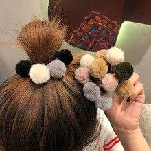 Ruoshui, Женский помпон, резинки для волос, для девочек, эластичная резинка для волос, резинка, аксессуары волос резинка, веревка, милые резинки, конский хвост, держатель