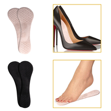 1 Pair High Heel Insoles Silicone Shields Anti Slip Insert Arch Support Pad 21.5cm