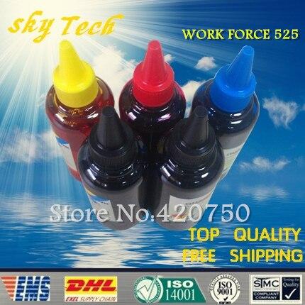 Dye refill ink Suit for Epson T1381, T1381 - T1384 cartridges ,suit for Epson workforce 525 . specialized ink dye refill ink suit for epson t5846 cartridges suit for epson pm280 pm200 pm240 pm290 pm225 specialized ink