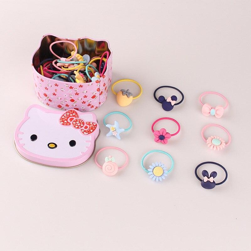 40pcs/lot korean cute elastic hair bands for children kids hair ties various type hair bands accessories headdress YT-76