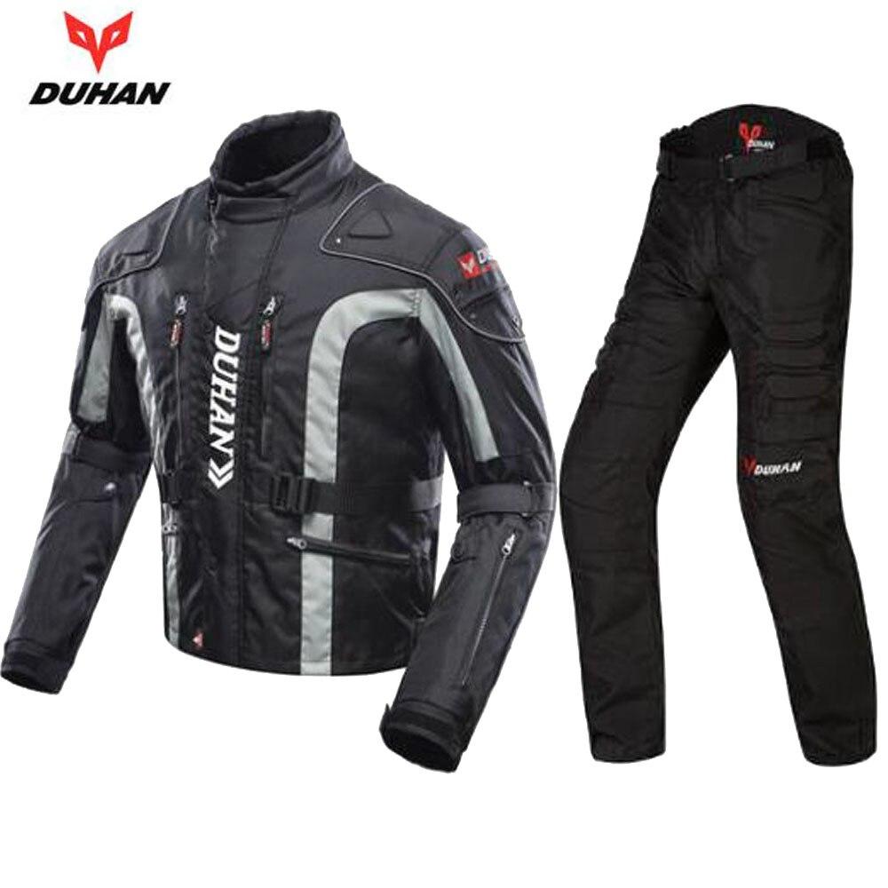 DUHAN Moto Matériel D'équitation Moto Costume Voyage Vêtements De Protection Gear Set Hommes Motocross Moto Veste et Pantalon Costumes