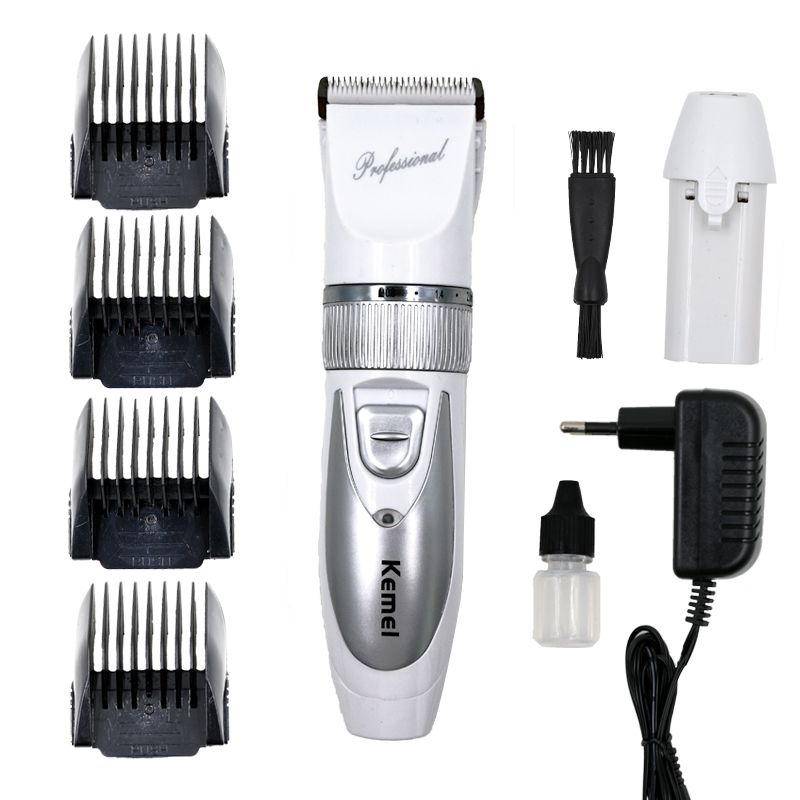 110V-220V kemei hair trimmer rechargeable clipper professional electric razor shaving machine for barber cutting beard shaver kemei rechargeable animal hair clipper for pet electric shaving machine hair trimmer cutting professional barber beard trimmer