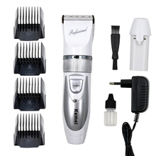 T084 kemei hair clipper 110V-220V + Extra Battery professional electric shaving machine barber hair trimmer cutting beard