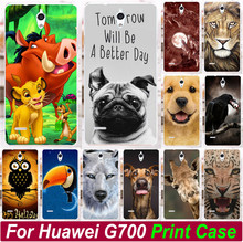 Phone Case Cover For Huawei Ascend G700 Print lion King Horse Fox Giraffe Dog Owl Lion Dog Animal Phone cases Cover Hood Shell