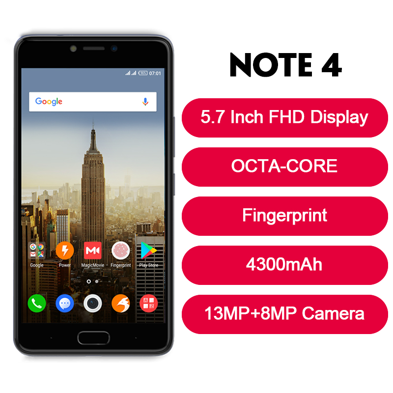 """Image 3 - Infinix NOTE 4 SmartPhone OCTA CORE 5.7"""" Fingerprint 4300mAh cell phone-in Cellphones from Cellphones & Telecommunications"""